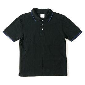 fragment (フラグメント) ×Levi's Fenom ロゴ刺繍コットン鹿の子ポロシャツ ブラック L 【美品】【メンズ】【K2307】【中古】【あす楽☆対応可】