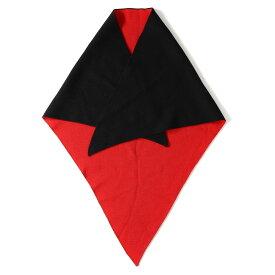 【プライスダウン】Dior HOMME (ディオールオム) 09A/W トライアングルニットストール レッド×ブラック 【メンズ】【美品】【K2257】【中古】【あす楽☆対応可】