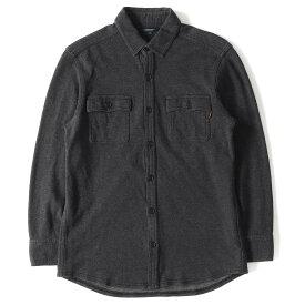 BURBERRY (バーバリー) 裏地ノバチェックコットンボタンシャツ チャコール M 【メンズ】【K2451】【中古】【あす楽☆対応可】