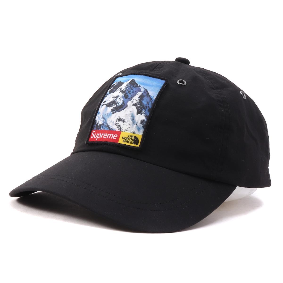 Supreme (シュプリーム) 17A/W ×THE NORTH FACE ワッペン付き6パネルキャップ(Mountain 6-Panel Hat) ブラック 【美品】【メンズ】【K2169】【中古】【あす楽☆対応可】