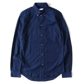 HELMUT LANG (ヘルムートラング) オックスフォードボタンダウンシャツ ネイビー 37-141/2 【メンズ】【K2290】【中古】【あす楽☆対応可】