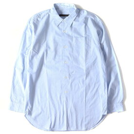 SOPHNET (ソフネット) 16S/S レギュラーカラーロングボタンシャツ(LONG REGULAR COLLAR SHIRT) サックス M 【メンズ】【K2308】【中古】【あす楽☆対応可】