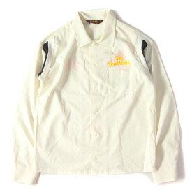 TENDERLOIN (テンダーロイン) ブランドロゴ刺繍ボーリングシャツ(T-BOWL SHT LONG) オフホワイト S 【メンズ】【K2188】【中古】【あす楽☆対応可】