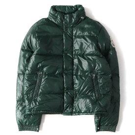MONCLER (モンクレール) ダウン デカロゴ ワッペン ナイロン ダウン ジャケット EVEREST エベレスト ダークグリーン×グリーン 2 【メンズ】【K2194】【中古】