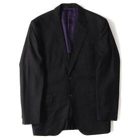 Paul Smith (ポールスミス) ×Loro Piana ウールジャケット&パンツ セットアップ スーツ FOUR SEASONS Super 130'S ブラック×マルチボーダー L 【美品】【メンズ】【K2194】【中古】【あす楽☆対応可】