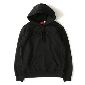 Supreme (シュプリーム) パーカー セットイン ブランドロゴ スウェットパーカー Set In Logo Hooded Sweatshirt 19年春夏 ブラック S 【メンズ】【K2198】【あす楽☆対応可】