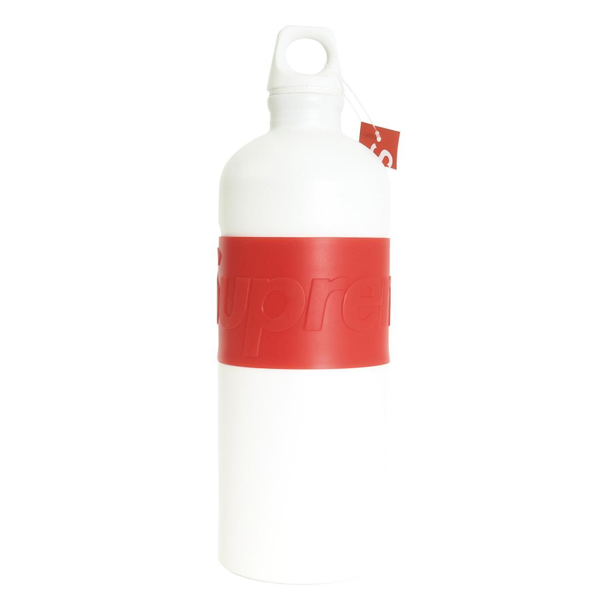 Supreme (シュプリーム) 19S/S ×SIGG ブランドロゴウォーターボトル(CYD 1.0L Water Bottle) ホワイト 【メンズ】【K2198】【あす楽☆対応可】