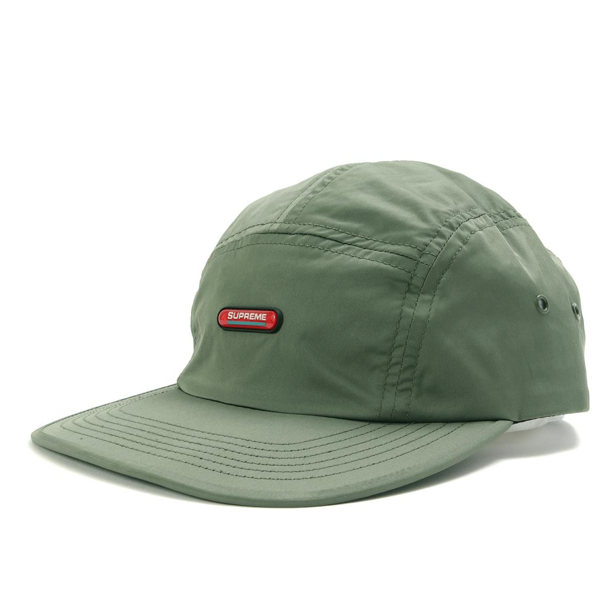 Supreme (シュプリーム) 18A/W クリア—パッチキャンプキャップ(Clear Patch Camp Cap) オリーブ 【メンズ】【美品】【K2204】【中古】【あす楽☆対応可】