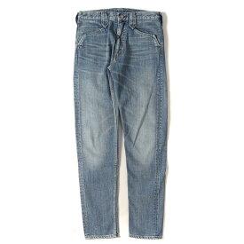 The Letters (レターズ) ヴィンテージ加工テーパードデニムパンツ(Western Denim Pants. Used Washed) インディゴ S 【メンズ】【美品】【K2208】【中古】【あす楽☆対応可】