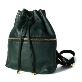 MARNI(マルニ) レザー ミニリュック バックパック 巾着 モスグリーン×ブラック【K2214】【中古】【レディース】