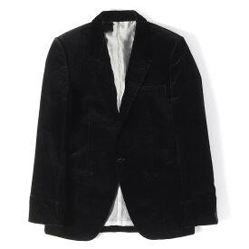 N.HOOLYWOOD (エヌハリウッド) ピークドラペルベルベット1Bテーラードジャケット ブラック S 【美品】【メンズ】【K2221】【中古】【あす楽☆対応可】