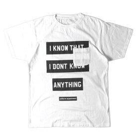 UNIFORM EXPERIMENT (ユニフォームエクスペリメント) Tシャツ 17SS ポケット バナー BOXロゴ Tシャツ BANNER BOX POCKET TEE 17年春夏 ホワイト 4 【美品】【メンズ】【K2318】【中古】【あす楽☆対応可】