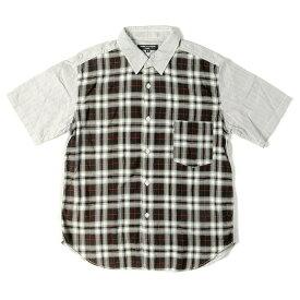 COMME des GARCONS (コムデギャルソン) タータンチェック半袖コットンシャツ(2009年製) グレー×ブラック S 【メンズ】【K2458】【中古】【あす楽☆対応可】
