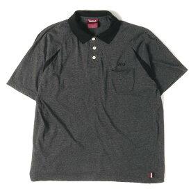 HIDE&SEEK (ハイドアンドシーク) ロゴ刺繍ポケット付きポロシャツ グレー M位 【メンズ】【美品】【K2343】【中古】【あす楽☆対応可】
