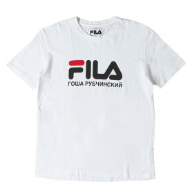 Gosha Rubchinskiy (ゴーシャラブチンスキー) 17S/S ×FILA ブランドロゴTシャツ(FILA TEE) ホワイト L 【メンズ】【中古】【K2286】【あす楽☆対応可】