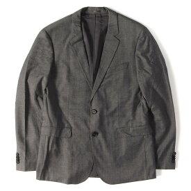 HUGO BOSS (ヒューゴボス) ストレッチウール2Bテーラードジャケット / スラックスパンツ セットアップ スーツ グレー 50 【メンズ】【中古】【美品】【K2287】【あす楽☆対応可】