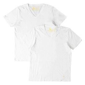 fragment (フラグメント) ×VANQUISH VネックTシャツ 2枚セット ホワイト 各L 【メンズ】【中古】【K2295】【あす楽☆対応可】