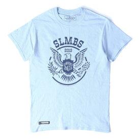 NEIGHBORHOOD (ネイバーフッド) 18A/W ×fragment design ライブツアーTシャツ(SLUMBERS / C-TEE . SS) サックス S 【メンズ】【中古】【美品】【K2296】【あす楽☆対応可】