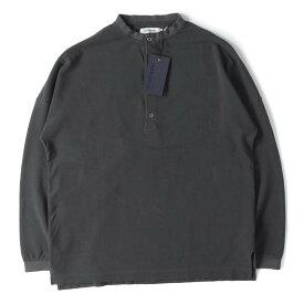 NONNATIVE (ノンネイティブ) Tシャツ 19SS ヘンリーネック 鹿の子 ロングスリーブTシャツ CLERK HENLEY NECK L/S TEE チャコール 2 【メンズ】【中古】【美品】【K2487】【あす楽☆対応可】