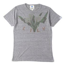 GDC (ジーディーシー) フラワーグラフィック霜降りTシャツ ヘザーグレー M 【メンズ】【中古】【K2303】【あす楽☆対応可】