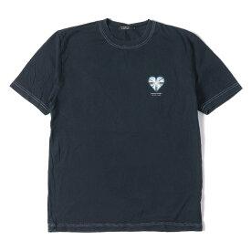 BURBERRY (バーバリー) ユニオンジャックハートTシャツ(BLACK LABEL) ネイビー 3 【メンズ】【中古】【K2314】【あす楽☆対応可】