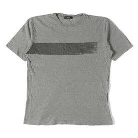 BURBERRY (バーバリー) プリントクルーネックTシャツ(BLACK LABEL) グレー 3 【メンズ】【中古】【K2314】【あす楽☆対応可】