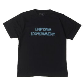 UNIFORM EXPERIMENT (ユニフォームエクスペリメント) Tシャツ 16SS ネオンロゴプリントTシャツ(NEON TEE) ブラック 2 【メンズ】【中古】【美品】【K2317】【あす楽☆対応可】
