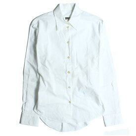 MM6 Maison Margiela(エムエムシックス メゾンマルジェラ) バックギャザーシャツ 18秋冬 ホワイト 36(S) 【レディース】【中古】【美品】【K2319】