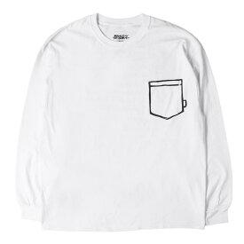 24karats (24カラッツ) 18A/W ×Joshua Vides グラフィックプリントロングスリーブTシャツ(JOSHUA VIDES TEE) ホワイト XL 【メンズ】【中古】【美品】【K2318】【あす楽☆対応可】