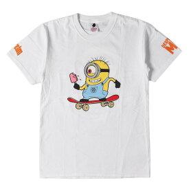 BBC/ICE CREAM (ビービーシー) ミニオンズパロディーグラフィックTシャツ ホワイト S 【メンズ】【中古】【美品】【K2325】【あす楽☆対応可】