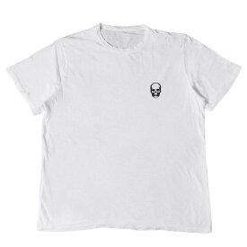 lucien pellat-finet (ルシアンペラフィネ) Tシャツ ワンポイント スカル コットン スラブ Tシャツ ホワイト XL 【メンズ】【中古】【美品】【K2350】【あす楽☆対応可】
