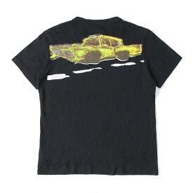 John Galliano (ジョンガリアーノ) バックタクシーグラフィックTシャツ ブラック S 【メンズ】【中古】【美品】【K2363】【あす楽☆対応可】