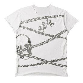 lucien pellat-finet (ルシアンペラフィネ) Tシャツ スカル ロープ グラフィック Tシャツ ホワイト XL 【メンズ】【中古】【美品】【K2350】【あす楽☆対応可】