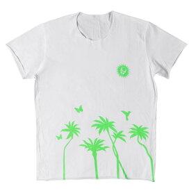 lucien pellat-finet (ルシアンペラフィネ) スカル&パームツリーTシャツ ホワイト XL 【メンズ】【中古】【美品】【K2332】【あす楽☆対応可】