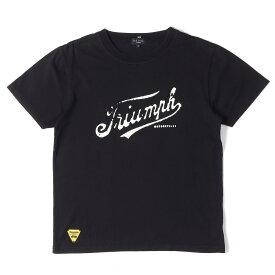 Paul Smith (ポールスミス) ×TRIUMPH フェルトロゴクルーネックTシャツ Paul Smith JEANS ブラック M 【メンズ】【中古】【K2340】【あす楽☆対応可】