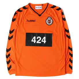 424 (フォートゥーフォー) 18S/S 国内2店舗限定 ×HUMMEL HIVE フットボールジャージ(LS JERSEY) オレンジ S 【メンズ】【K2351】【あす楽☆対応可】