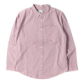 visvim (ヴィズビム) チェック ボタンダウン シャツ レッド 2 【メンズ】【中古】【美品】【K2356】【あす楽☆対応可】