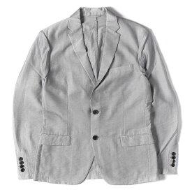 Calvin Klein (カルバンクライン) ピンストライプ柄ナイロンリヨセル2Bアンコンテーラードジャケット オンワード樫山タグ グレー×シルバー M 【メンズ】【中古】【K2359】【あす楽☆対応可】