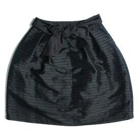 TO BE CHIC (トゥー ビー シック) タックボーダー スカート コクーン スカート ブラック 40 【レディース】【中古】【美品】【K2363】3】