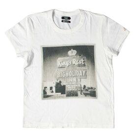 TMT (ティーエムティー) 18AW フォトグラフィックTシャツ(S/SL REPRODUCTION JERSEY) ホワイト S 【メンズ】【中古】【美品】【K2370】【あす楽☆対応可】