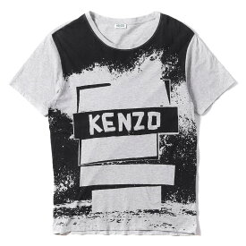 KENZO (ケンゾー) Tシャツ グラフィック プリント Tシャツ グレー M 【メンズ】【中古】【K2372】【あす楽☆対応可】