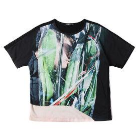 ISSEY MIYAKE (イッセイミヤケ) Tシャツ 15SS × 藤原聡志 Code Unknown フォト プリント Tシャツ ブラック 1 【メンズ】【中古】【美品】【K2374】【あす楽☆対応可】
