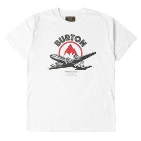 NEIGHBORHOOD (ネイバーフッド) Tシャツ 17AW × BURTON 飛行機 プリント クルーネックTシャツ NB.T-2/C-TEE.SS ホワイト L 【メンズ】【中古】【美品】【K2375】【あす楽☆対応可】