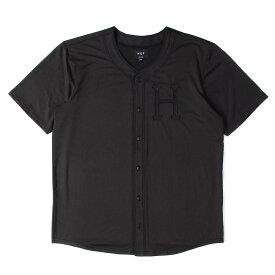 HUF (ハフ) シャツ H ワッペン メッシュ ジャージ ベースボールシャツ ブラック M 【メンズ】【中古】【K2375】【あす楽☆対応可】