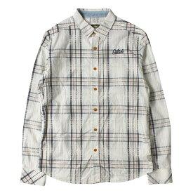 G-STAR (ジースター) ロゴ刺繍ロールアップチェックシャツ(G-STAR RAW) ホワイト M 【メンズ】【中古】【K2381】【あす楽☆対応可】