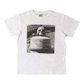 Stie-lo (スティーロー) Tシャツ クロスボーン フォト クルーネック Tシャツ Robert Mapplethorpe / SKULL&CROSSBONES ホワイト S 【メンズ】【中古】【K2699】【あす楽☆対応可】