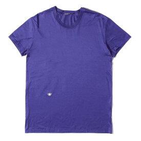 Dior HOMME (ディオールオム) 09S/S Bee刺繍クルーネックTシャツ イタリア製 クリスヴァン・アッシュ デザイン ブルー S 【メンズ】【中古】【K2387】【あす楽☆対応可】