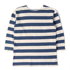 WAREHOUSE (ウエアハウス) Tシャツ ボーダー ロングスリーブ Tシャツ DUCK DIGGER ブルー×ホワイト 38 【メンズ】【中古】【K2388】【あす楽☆対応可】
