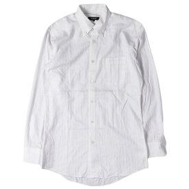 BURBERRY (バーバリー) シャツ シャドー ストライプ ボタンダウンシャツ BLACK LABEL ホワイト 39 【メンズ】【中古】【K2604】【あす楽☆対応可】