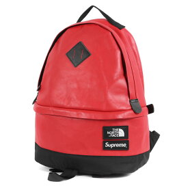 Supreme (シュプリーム) 17AW ×THE NORTH FACE レザーデイパック(Leather Day Pack) レッド 【メンズ】【中古】【美品】【K2426】【あす楽☆対応可】